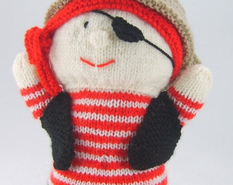 KNITTING PATTERN - Pirate Hand Puppet Knitting Pattern Download From Knitting by Post