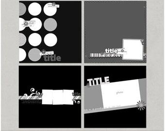 Sample Pack 9 - 12x12 Digital Scrapbooking Templates