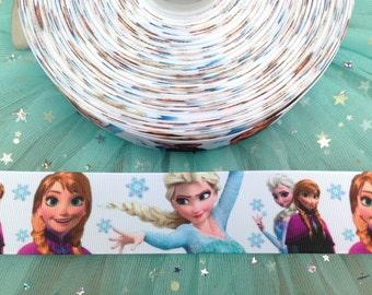 1.5'' (38MM)Frozen ribbon frozen printed grosgrain ribbon frozen hairbow ribbon party decoration elsa ribbon anna ribbon olaf ribbon