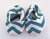 Chevron baby shoes