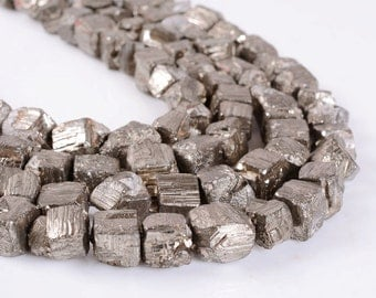 """0910 12mm Drusy druzy pyrite nugget loose beads 16"""""""