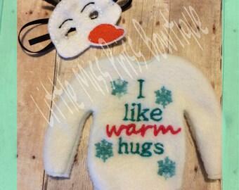 I like warm hugs. Elf doll clothing.