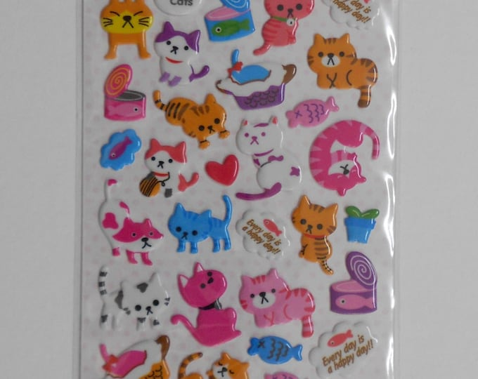Kawaii Cat Spongy Stickers