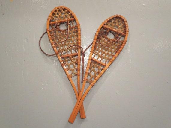 Raquettes neige miniatures vintage raquettes neige - Dessin raquette ...