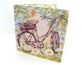 Greetings Card - Vintage countryside bike ride