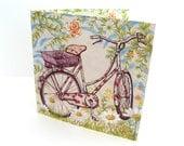 Greetings Card - Vintage countryside bike ride
