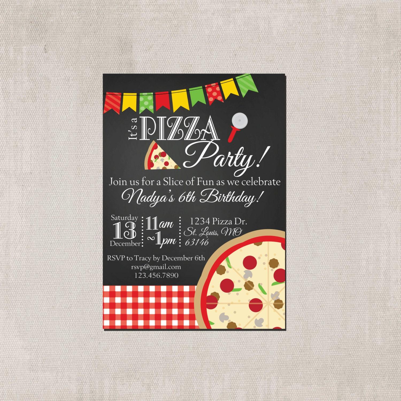 Pizza Party Invitation Wording