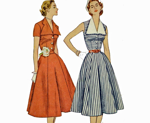 Vintage 50s Dress Pattern SUN DRESS Sewing Six