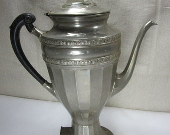 Manning Bowman Means Best Coffee Percolator Early 1900's Coffee Pot Collectible