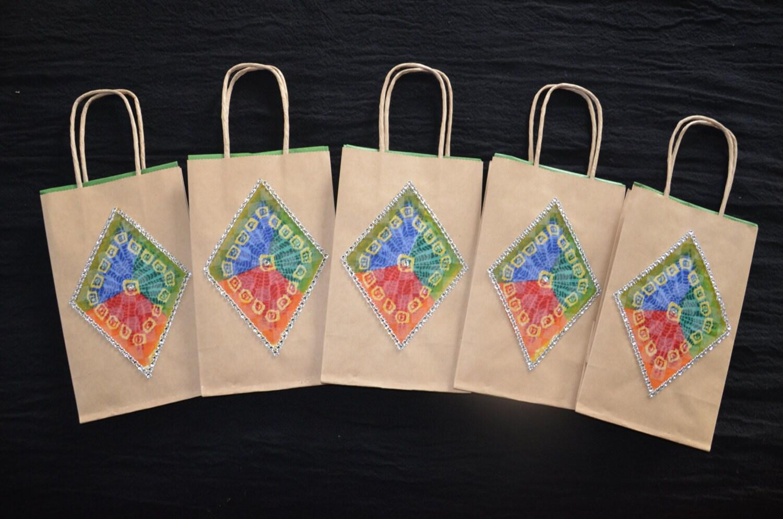 Hindu Wedding Gift Bags : Gift Bags Indian Wedding Green Gift Bags Traditional Indian