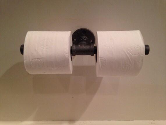 Industrial Double Toilet Paper Holder By Cuttingedgecraftsmen