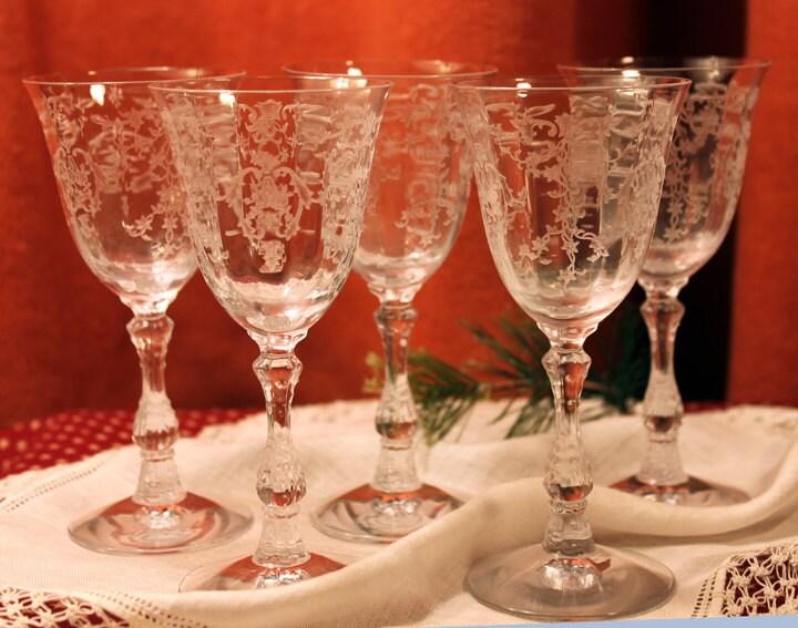 antique fostoria crystal fine crystal clarets with fostoria