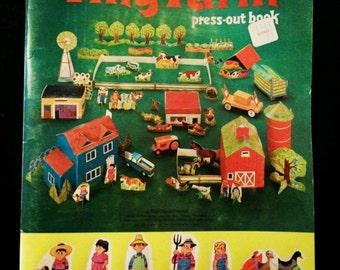 Tiny Farm Press-Out Book Copyright 1969