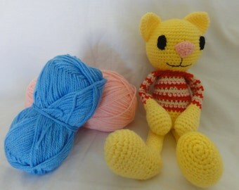 Huggy Cat, Amigurumi Cat, Crochet Cat, Amigurumi Kitty, Crochet Kitty, Soft Plush Toy, Boy or Girl, Baby, Gift, Present