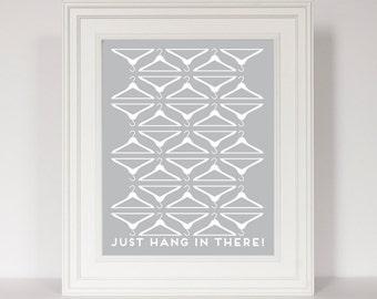 Laundry Room Decor, Laundry Room Sign, Laundry Print, Hanger Art, Laundry Room Art, Laundry Poster, Motivational Print, Funny Art