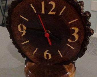 Wooden, Desk, Clock, rustic , cabin, clock