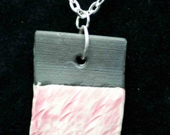 Black and Pale Pink Porcelain Necklace