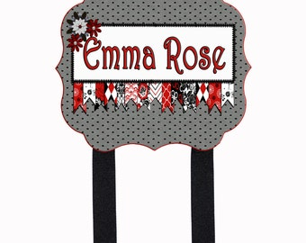Personalized Name Plaque or Bow Holder