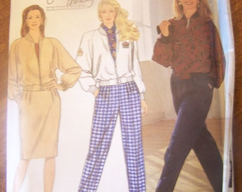 Simplicity 9869, Sizes 4-10, Womens, misses, pants, skirt and jacket or top, UNCUT sewing pattern.