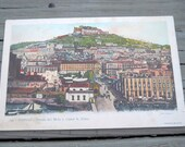 Vintage Postcard Strada del Molo e Castel s. Elmo, Napoli,Campania, Italy, 00