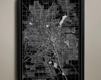 SAN ANTONIO Map Print Poster