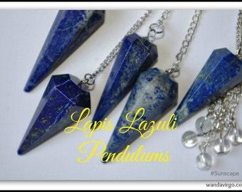 Colorful Lapis Lazuli PENDULUM for Divination