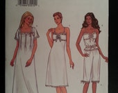 Butterick 3612 Misses Loose-Fitting Nightgown, Fitted Top, Pull on Pants sewing pattern sizes 6-8-10