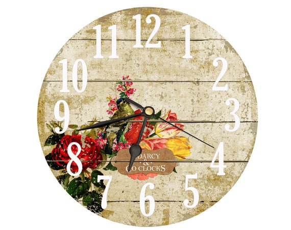 Rose Clock. Vintage clipart collage clock. by DarcyClocks ...