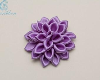 flower hair clip - hyacinth girl hair bow - you choose color 102
