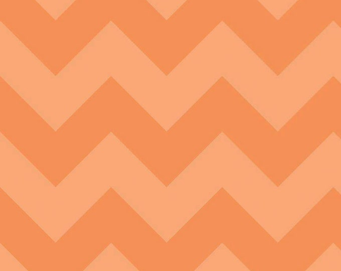 One Yard Large Chevron - Tone on Tone in Orange - Cotton Quilt Fabric - C390-61 - RBD Designers for Riley Blake Designs (W2228)