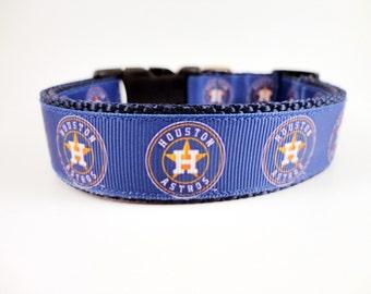 Houston Astros Dog Collar Adjustable