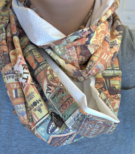 Monogrammable Travel Multicolor Infinity Scarf, Only store to offer these!