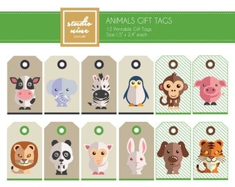 Animals Printable Gift Tags