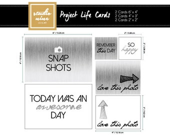 Snap Shot Printable Project Life Cards