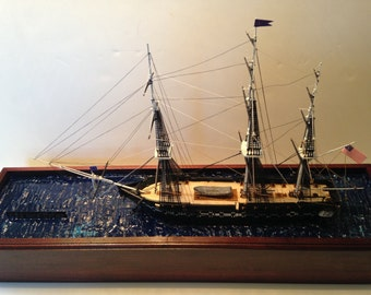 USS Constitution--Detailed Scale Model -20 inch length- 1/196 Scale