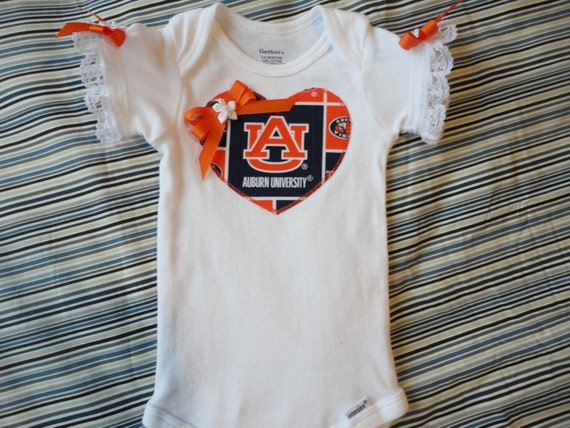 Auburn University Inspired Tailgating Boutique e Piece Baby