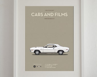 Vanishing Point car movie poster, art print A3 Cars And Films, home decor prints, illustration print. Car print