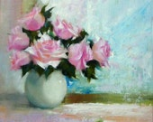 Prelude to October,Original oil painting, 6 x 6 inches