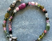 RESERVED- Beautiful Maine Tourmaline Anklet!