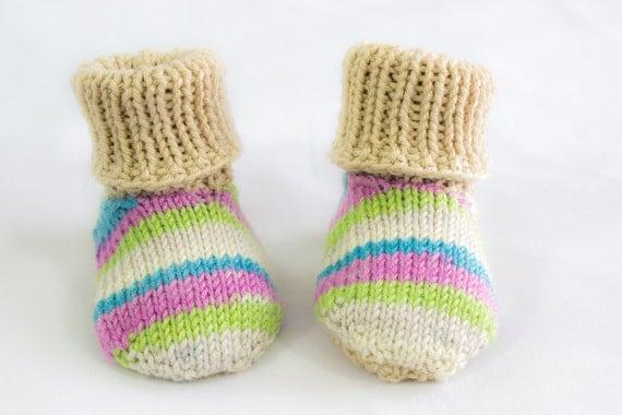 Knitting Pattern Slip On Slippers : KNITTING PATTERNToddler Baby Slippers Baby Slippers