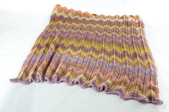 Zigzag Knitting Pattern Baby Blanket : KNITTING PATTERN, Baby Afghan Knitting Pattern, Baby ...
