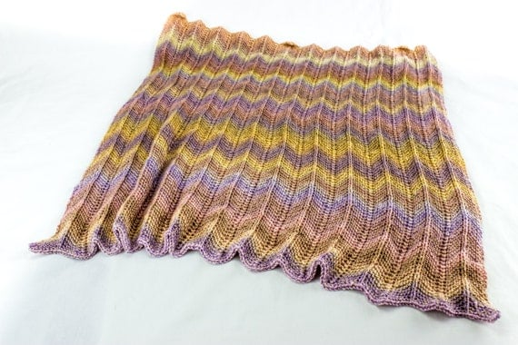 Knitted Zig Zag Afghan Pattern : KNITTING PATTERN, Baby Afghan Knitting Pattern, Baby Blankets Pattern, Zig Za...