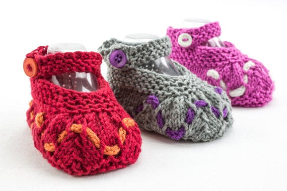 Lace Baby Booties Knitting Pattern : KNITTING PATTERN, PDF, Baby Girl Booties, Baby Summer Booties, Strap Booties,...