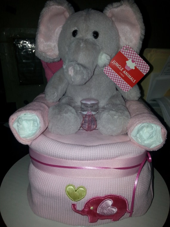 Elephant Diaper Chair Baby Shower Center By