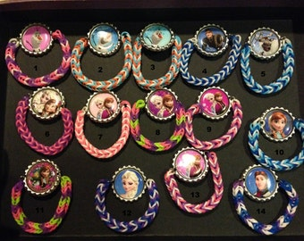 Bottle cap loom bracelets