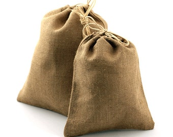 "Natural Jute Party Bags - 10"" x 12"" (10 Pack)"