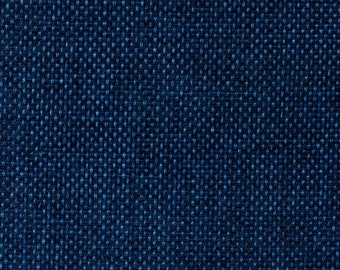 """58"""" Faux Burlap - Marine by the Yard (Polyester)"""