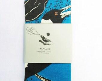 Australian Magpie Linen Tea Towel