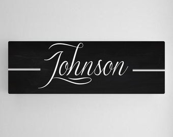 Personalized Family Name Sign | Family Name Canvas Print | Personalized Sign (ca758script)