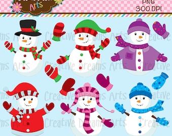 40% Off! Snowman Digital Clip Art Instant Download